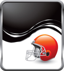 football helmet black wave background