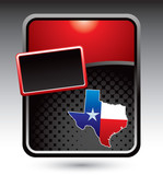 texas lonestar state red stylized template poster