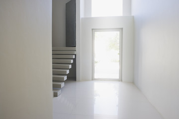 Entrance and staircase of modern home