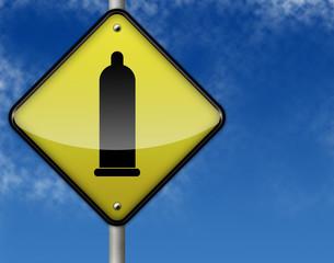 """Traffic Sign """"Condom Symbol"""""""