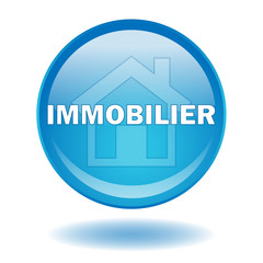 "Bouton web rond ""IMMOBILIER"""