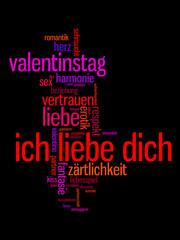 Ich Liebe Dich - Text Illustration