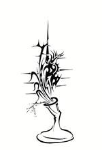 Czarny ikebana