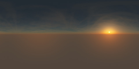Sunrise spherical 3d environment map