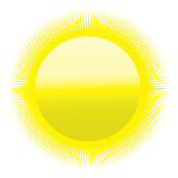 heatwave icon - blazing sun poster
