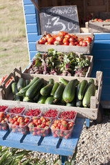 Fresh fruit and vegetables at farmer?s market