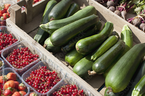 Fresh fruit and vegetables at farmer?s market