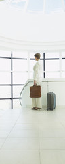 Businesswoman waiting to go on business trip