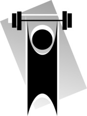 man lifting  in the exercise tools