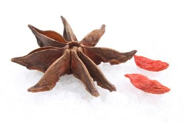 Star anise and goji