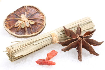 Citrus, star anise, cymbopogon and goji
