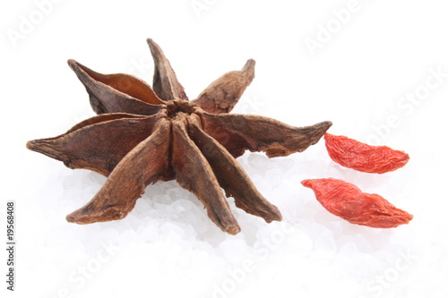 Star anise and goji