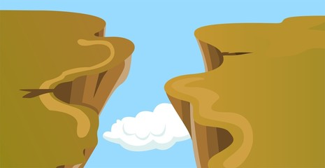 Illustration of cliff of mount Everest