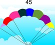 multi coloured air balloon with sky background