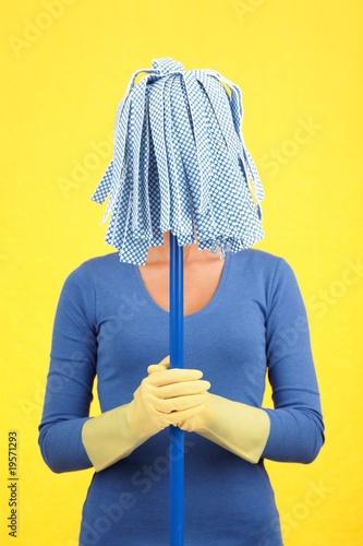 Funny maid woman