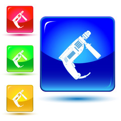 vector icon of hand electric drill