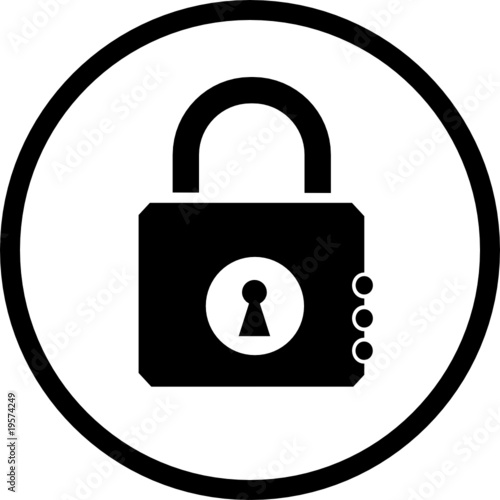 vector icon of closed lock