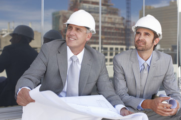 Architects at a construction site