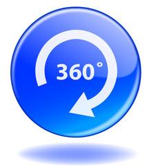 Bouton 360° (Degrés Présentation Tour Vue Total Complet Angle)
