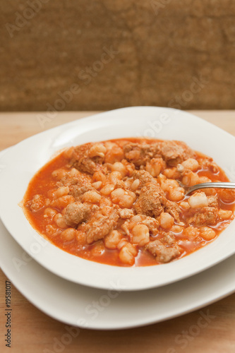 Hearty bowl of Pozole (Posole)