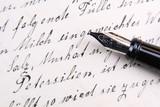Handwritten manuscript poster
