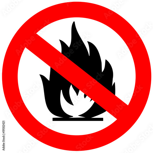 No fire allowed sign