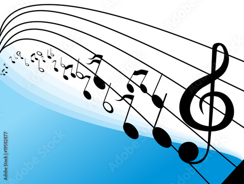 musical notes background. Abstract vector music notes