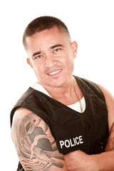 Handsome Hispanic Cop