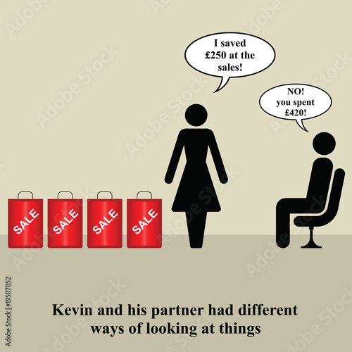 Kevin and his partner had different opinions