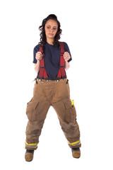 sad firewoman