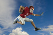 Football Runner with Clouds
