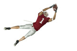 Football Catch On White