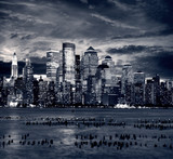 New York City Downtown from Jersey side. - Fine Art prints