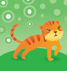 vector cute cartoon tiger