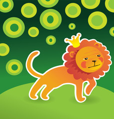 cartoon cute lion