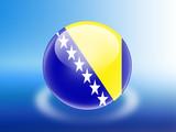 bandeira da Bosnia Herzegovina poster