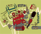 london doodles poster