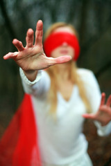 Red blindfold