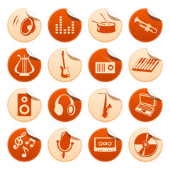 Music stickers
