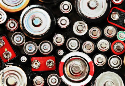 Leinwanddruck Bild Abstract Batteries Background
