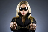 handcuffed sexxy woman