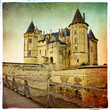 Saumur castle - retro styled picture