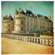 Le lude castle - picture in retro style