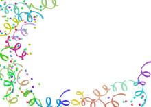 Serpentyny i konfetti rama Karnawał