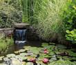 Leinwandbild Motiv bassin de jardin