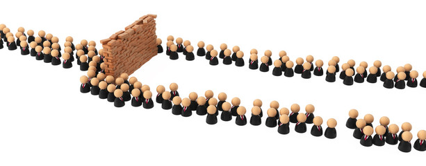 Business Symbols, Crowd Wall Obstacle