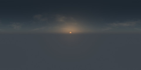Early sunrise spherical 3d environment map
