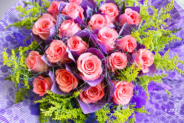Beautiful pink rose bouquet