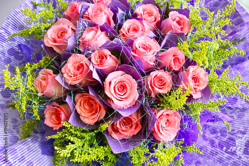 Beautiful pink rose bouquet