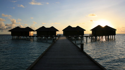Water bungalows, Kandoludu, Maldives